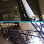 Stiegenhaus nach Malerarbeiten gereinigt durch Weisenfels GmbH